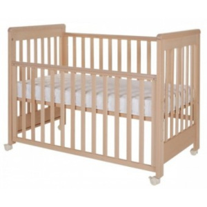 Patut co-sleeping din lemn 120x60 Dreamy Plus Natur