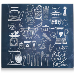 Placa din sticla protectie perete/plita, Lovely Kitchen, L56xl50 cm