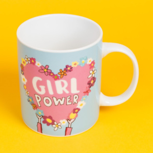 Cană din ceramică Happy News Girl Power, 400 ml