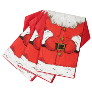 Set 16 șervețele de hârtie Talking Tables Sparlking Santa