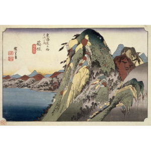Hakone: Lake Scene, from the series '53 Stations of the Tokaido' ('Tokaido gojusan tsugi no uchi'), pub. by Hoeido, 1833, Reproducere, Ando or Utagawa Hiroshige