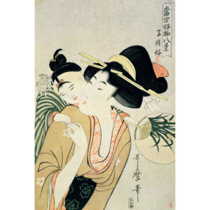 T H Riches 1913. A Lover of Children Reproducere, Kitagawa Utamaro