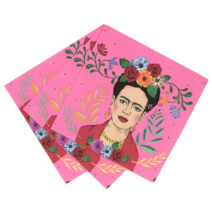 Set 20 șervețele de hârtie Talking Tables Boho Frida, 25 x 25 cm