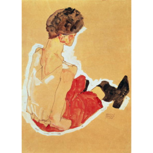 Seated Woman, 1911 Reproducere, Egon Schiele