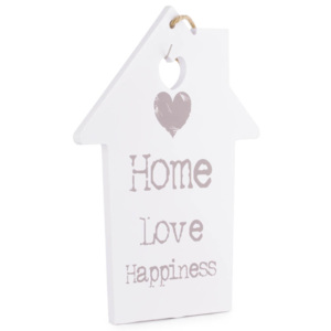 Placuta decorativa lemn, quot; Home-Love-Happinessquot