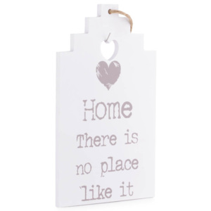 Placuta decorativa lemn, quot; Home-there is no place like itquot