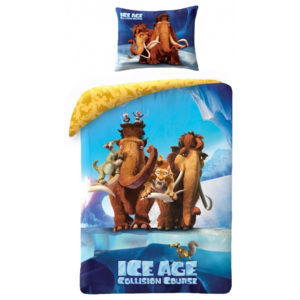 Lenjerie de pat copii Cotton Ice Age IA-7010BL-200 x 140 cm