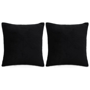 Set perne decorative 2 buc, velur 60 x 60 cm, negru