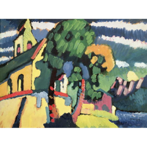 Bavarian Landscape with a Church Reproducere, Wassily Kandinsky