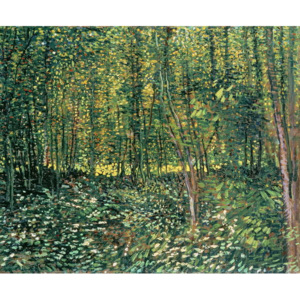 Trees and Undergrowth, 1887 Reproducere, Vincent van Gogh