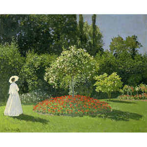 Jeanne Marie Lecadre in the Garden, 1866 Reproducere, Claude Monet