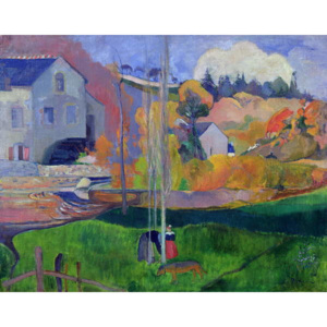 Brittany Landscape: the David Mill, 1894 Reproducere, Paul Gauguin