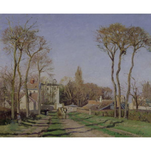 Entrance to the Village of Voisins, Yvelines, 1872 Reproducere, Camille Pissarro