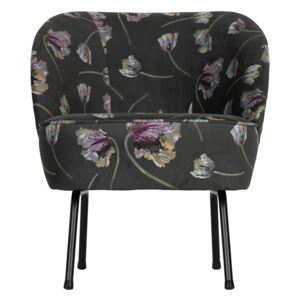 Fotoliu catifea floral Vogue Armchair Velvet Rocco Aloe | BE PURE HOME