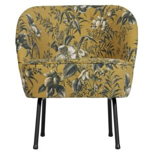 Fotoliu catifea floral Vogue Armchair Velvet Poppy Mustard | BE PURE HOME