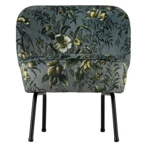 Fotoliu catifea floral Vogue Armchair Velvet Poppy Grey | BE PURE HOME