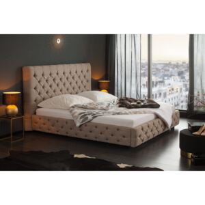 Pat dormitor 180x200cm Paris Bed Taupe Fab | INVICTA INTERIOR