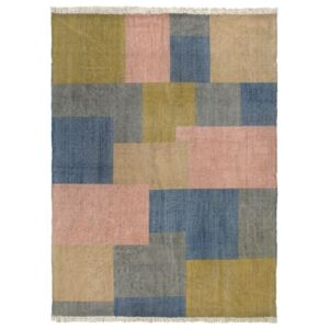 Covor Kilim țesut manual, multicolor, 160 x 230 cm, bumbac