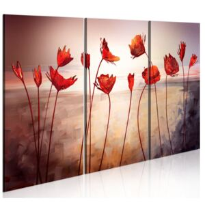 Tablou Bimago - Bright red poppies 90x60 cm