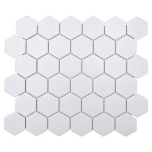 Mozaic HX AT51 hexagon uni alb R10B 32,5x28,1 cm