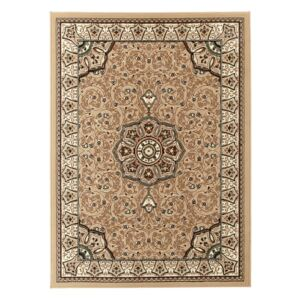 Covor Think Rugs Diamond, 120 x 170 cm, bej - maro