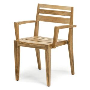 Ethimo Ribot Stacking Dining Armchair Natural Teak