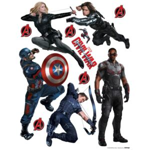 AG Design Captain America: Civil War2 - autocolant de perete 65x85 cm