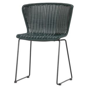 Scaun verde din ratan Wings Chair Green | WOOOD