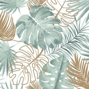 DUTCH WALLCOVERINGS Tapet model frunze Monstera, verde L604-04