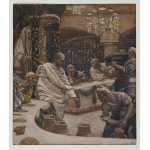 The Marriage at Cana, illustration from 'The Life of Our Lord Jesus Christ' Reproducere, James Jacques Joseph Tissot