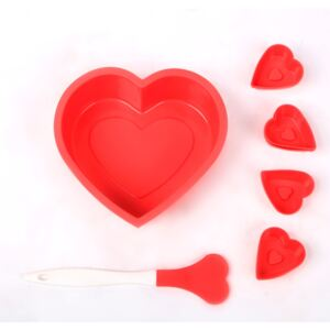 SET FORMA SILICON HEART + 6 FORME BRIOSE + SPATULA