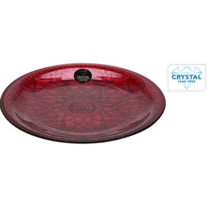 FARFURIE CHARGER CRISTAL, 35 CM, ROSU