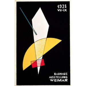Moholy-Nagy, Laszlo - Poster for a Bauhaus exhibition in Weimar, Germany, 1923 Reproducere