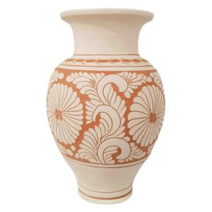 Vaza Traditionala Ceramica lucrata manual 8 x 26 cm