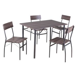 Set dining 1+4, lemn/metal, MALABO