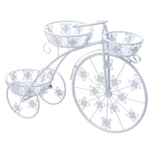 Suport metalic flori White Bike 75 cm x 24 cm x 50 cm