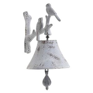 Clopot metalic Bird White 13 x 17
