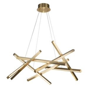 Corp de iluminat suspendat Diagonal Brushed Brass