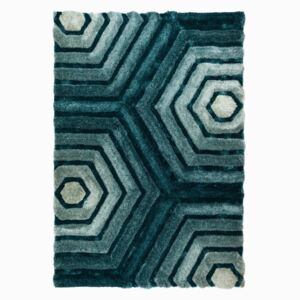 Covor Flair Rugs Hexagon Duck, 80 x 150 cm, albast