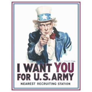 Placă metalică - I Want You For U.S Army!