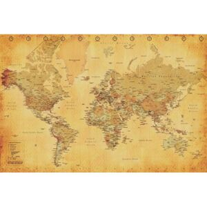 Poster - World Map (Vintage)