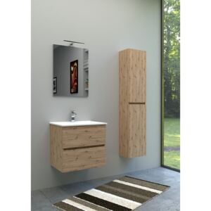 Set Complet Mobilier Baie Harmony Rovere Nodato L61 cm