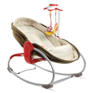 Sezlong 3 in 1 Rocker Napper Maro-Bej Tiny Love