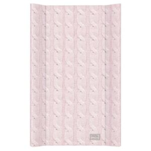Blat de Infasat cu intaritura Ceba Baby 50x70 cm Cable Stitch Pastel Collection Roz