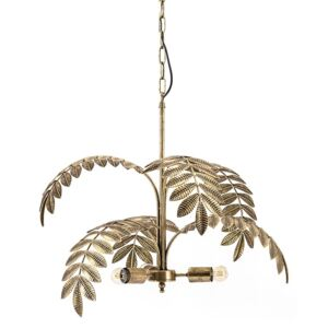 Lustra din metal Unbeleafable aurie, 3 becuri