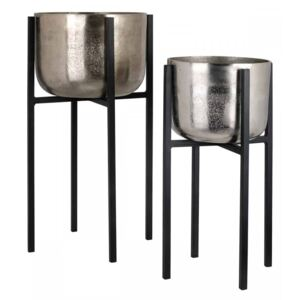 Suport plante Elodie set of 2 (champagne gold/silver)
