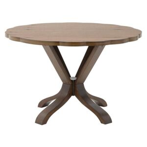 Masa dining Brown rotunda din lemn 122 x 76 cm