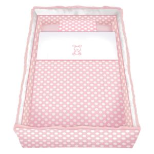 Set lenjerie cu broderie 7 piese Lily Pink Circles