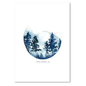 Poster Americanflat Blue Mountain by Claudia Libenberg, 30 x 42 cm