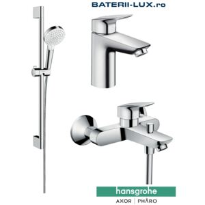 Set complet baterii baie cada Hansgrohe Logis100(71100000,71400000,26532400)